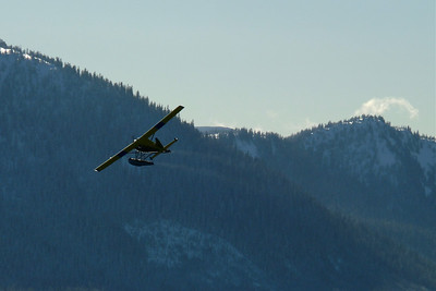 Mail Plane Heading Back to Juneau February 2011, Cynthia Meyer, Tenakee Springs, Alaska