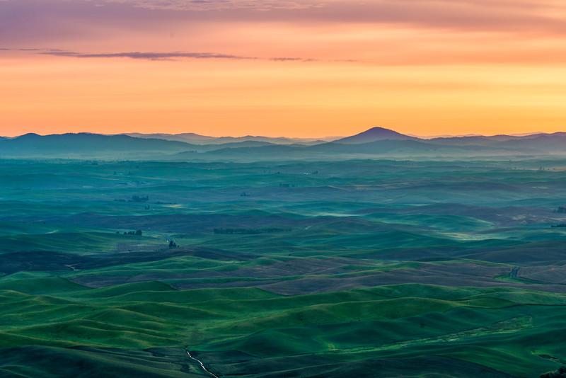 Dawn Light Over Palouse