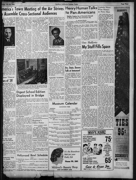 Summer Trojan, Vol. 33, No. 10, July 24, 1942