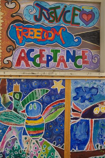 Mural on Harvey Milk Elementary School
