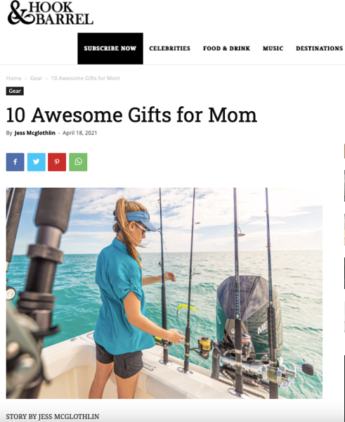 Mother's Day gift guide for Hook & Barrel Magazine. May 2021.  https://hookandbarrel.com/hunting-fishing-gear/mother-day-gifts/