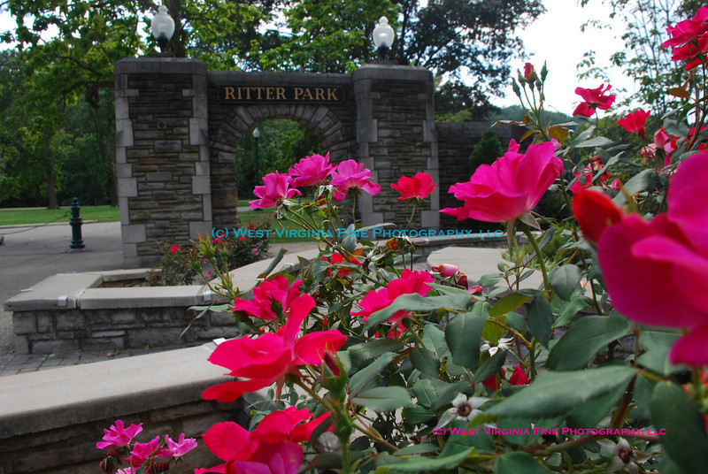 The entrance to Ritter Park in Huntington, WV.