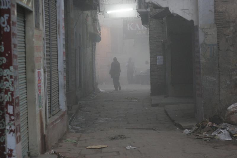Benares, Varanasi, morning street 2008
