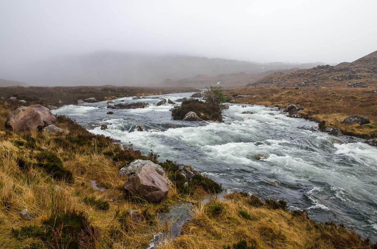 NC500 - Applecross - Swollen rivers
