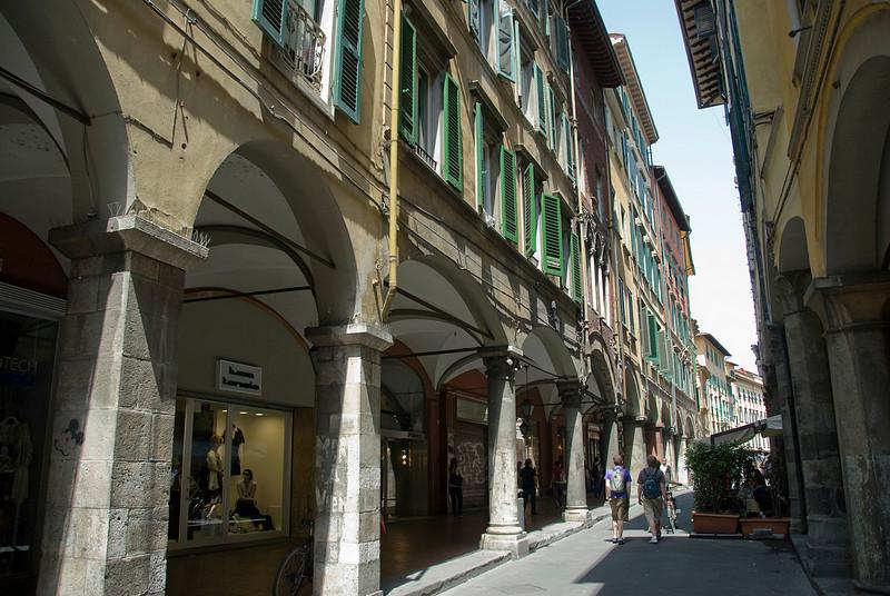 Street scene at Pisa, Italy