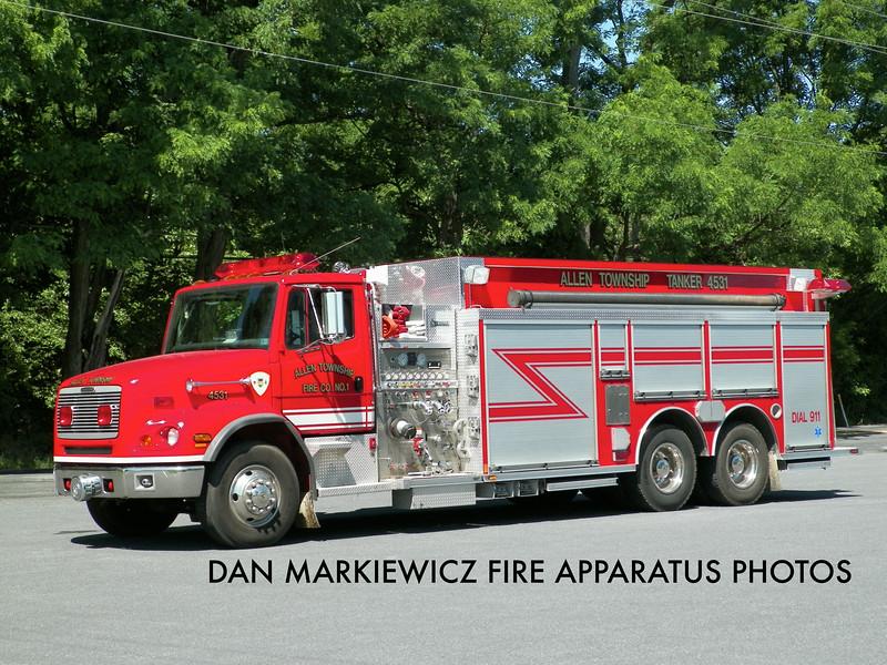 ALLEN TOWNSHIP FIRE CO. TANKER 4531 2003 FREIGHTLINER/CENTRAL STATES TANKER