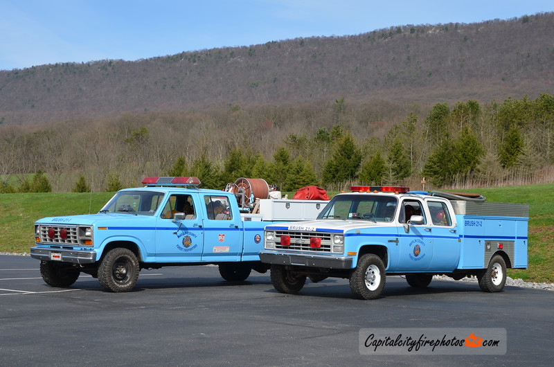 Mifflin County Forest Firefighters Brush 21-1 (1983 Ford) and Brush 21-2: (1985 Chevrolet)