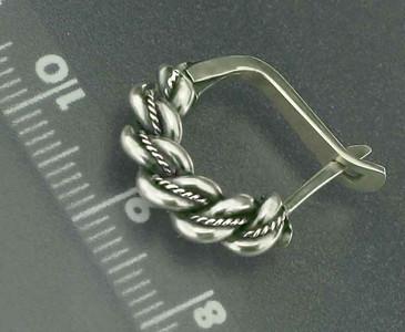 Nameja earrings Silver English