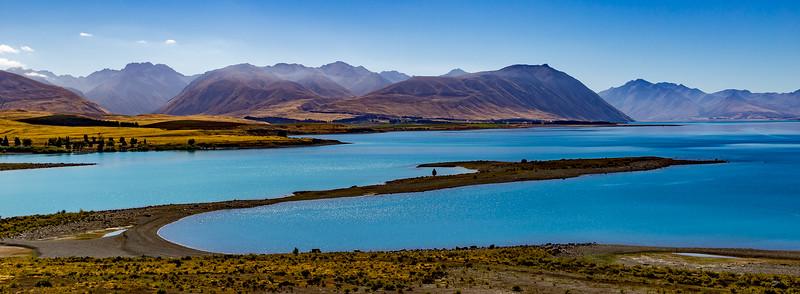 Blick vom «Lake Tekapo» Richtung «Mount Cook National Park»