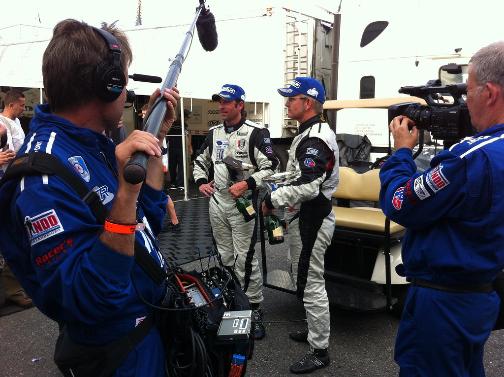 . Patrick Dempsey interviewed post race.