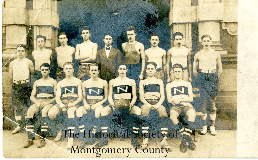 . This photo from the Historical Society of Montgomery County shows Norristown High School\'s basketball team in 1913.
