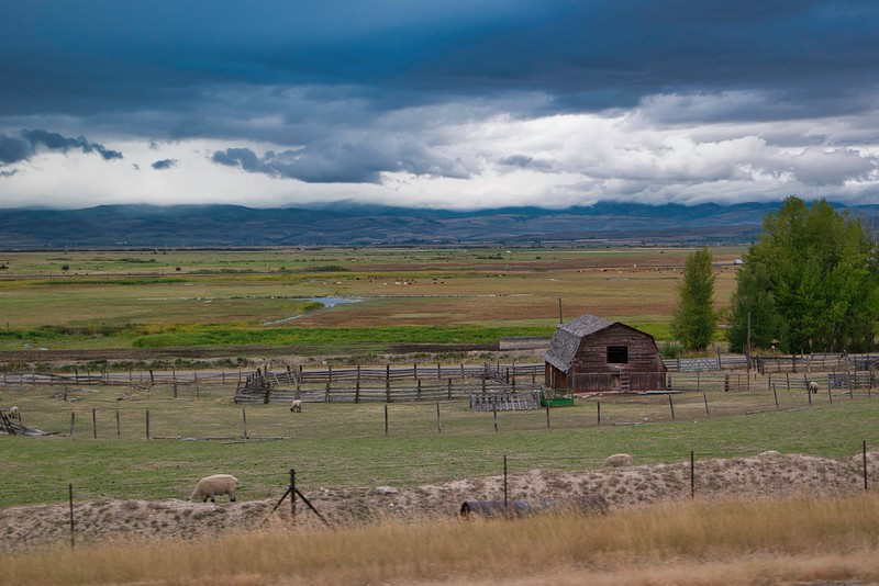 Idaho Barn Near Soda Springs