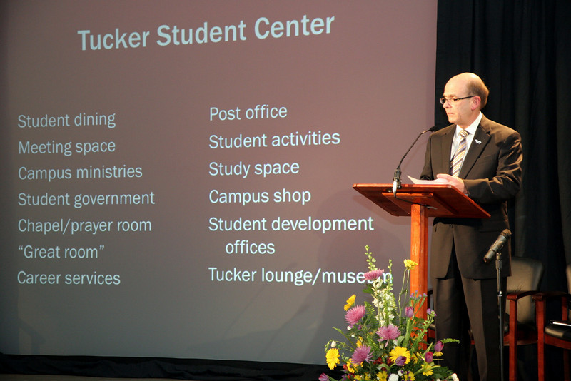 The Tuckers at Gardner-Webb University to announce the developement of the Tucker Student Center.