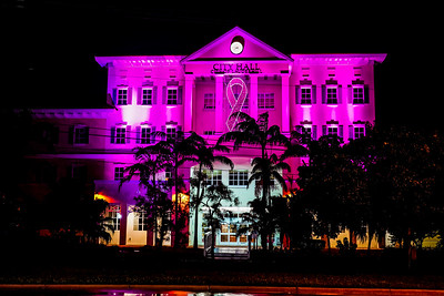 City of Lauderhill Breast Cancer Awareness Ribbon