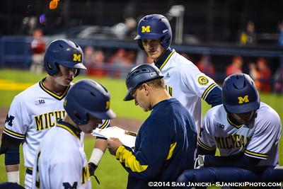 4-25-14 to 4-27-14 Michigan Baseball Series Vs Nebraska
