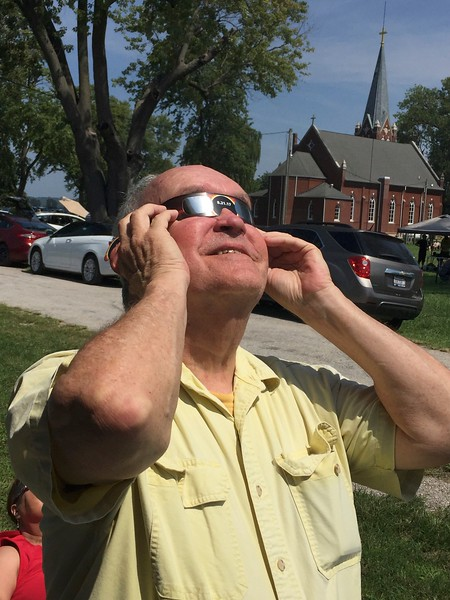 David Watching Total Solar Eclipse @ Kaskaskia Island