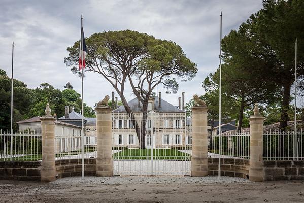 Vinslotte i Bordeaux