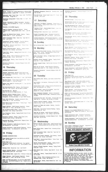 Daily Trojan, Vol. 111, No. 17, February 05, 1990