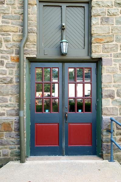Church doors.