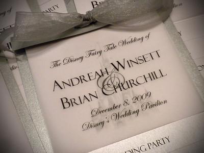 Handmade Wedding Programs