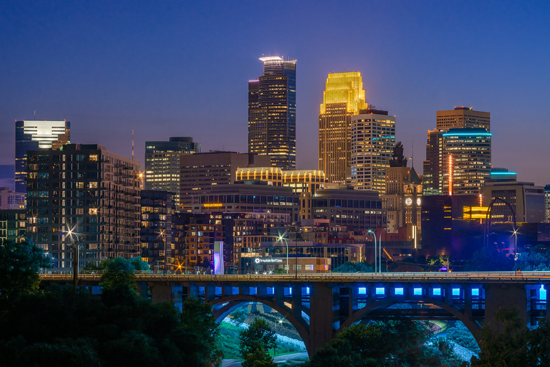 Minneapolis Skyline at Night 2019