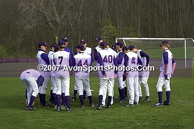 20070430_Firelands vs Avon - Boys Junior Varsity Baseball