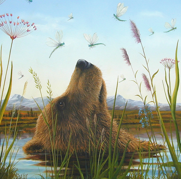 "Robert Bissell ""The Dance"" Oil on canvas"