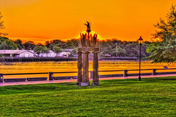 Savannah Ga. Olympic Flame