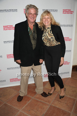 Charles Waller and Jerilyn Lewandski attend the HIFF Wolffer Estate party sponsored by Baume & Mercier at the Wolffer Vineyard (October 134, 2011),