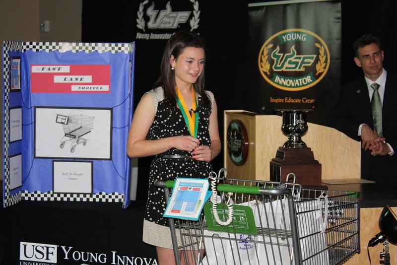 Melissa Feingold presents her shopping cart technology