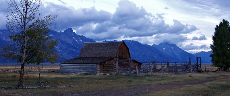 Mormon Row Barn At Dawn
