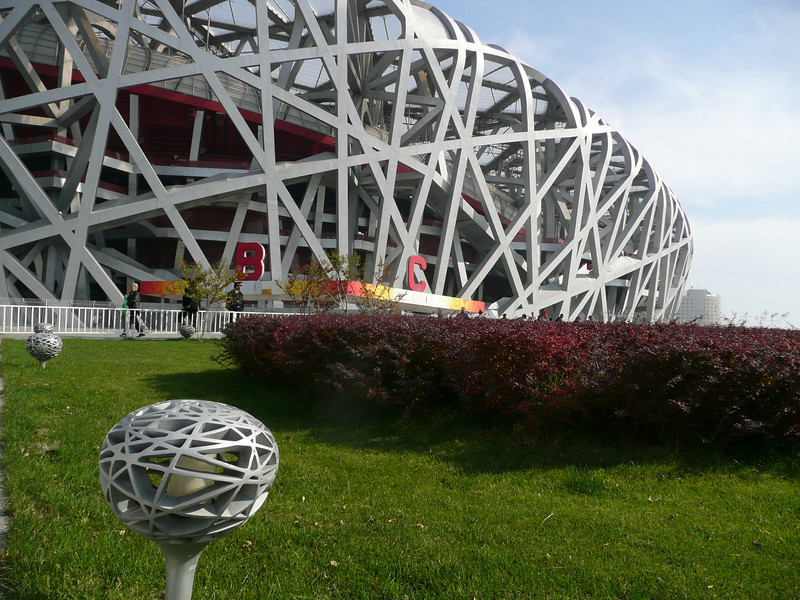 Beijing BirdNest Olympic Stadium; even the lamps ontinue the Theme! , 2010