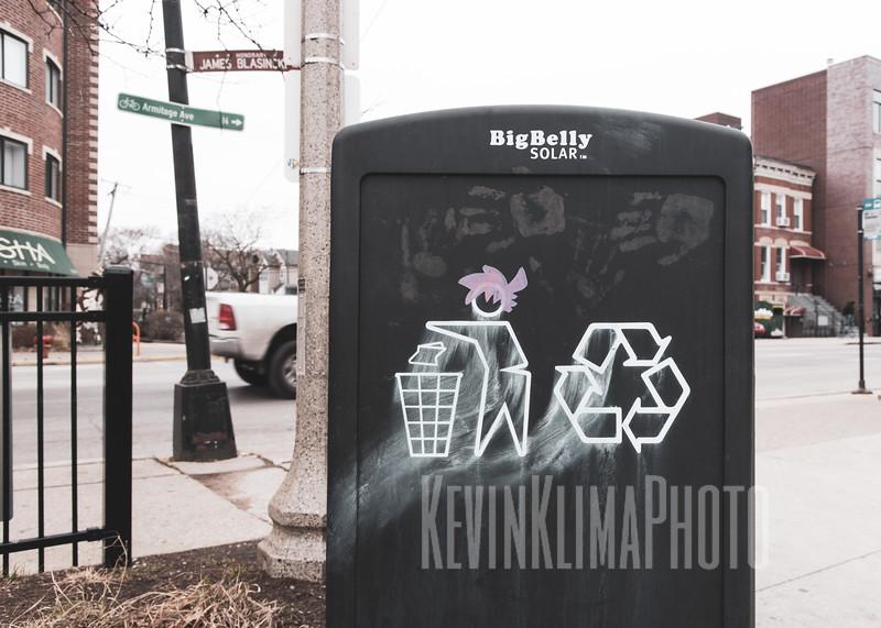 Graffiti and Street Art near the 606 in Bucktown