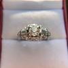 1.18ctw Art Deco Princess Halo Ring 20