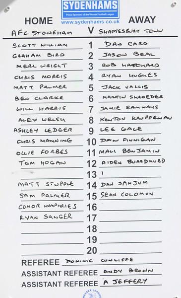 AFC Stoneham (2) v Shaftsbury (3) 1.4.2017