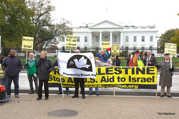 Protest War Criminal Netanyahu at the White House 11/9/15