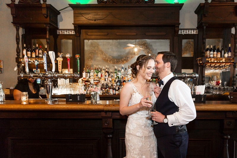 Chrsitine and Brad get married in Columbus, TX.