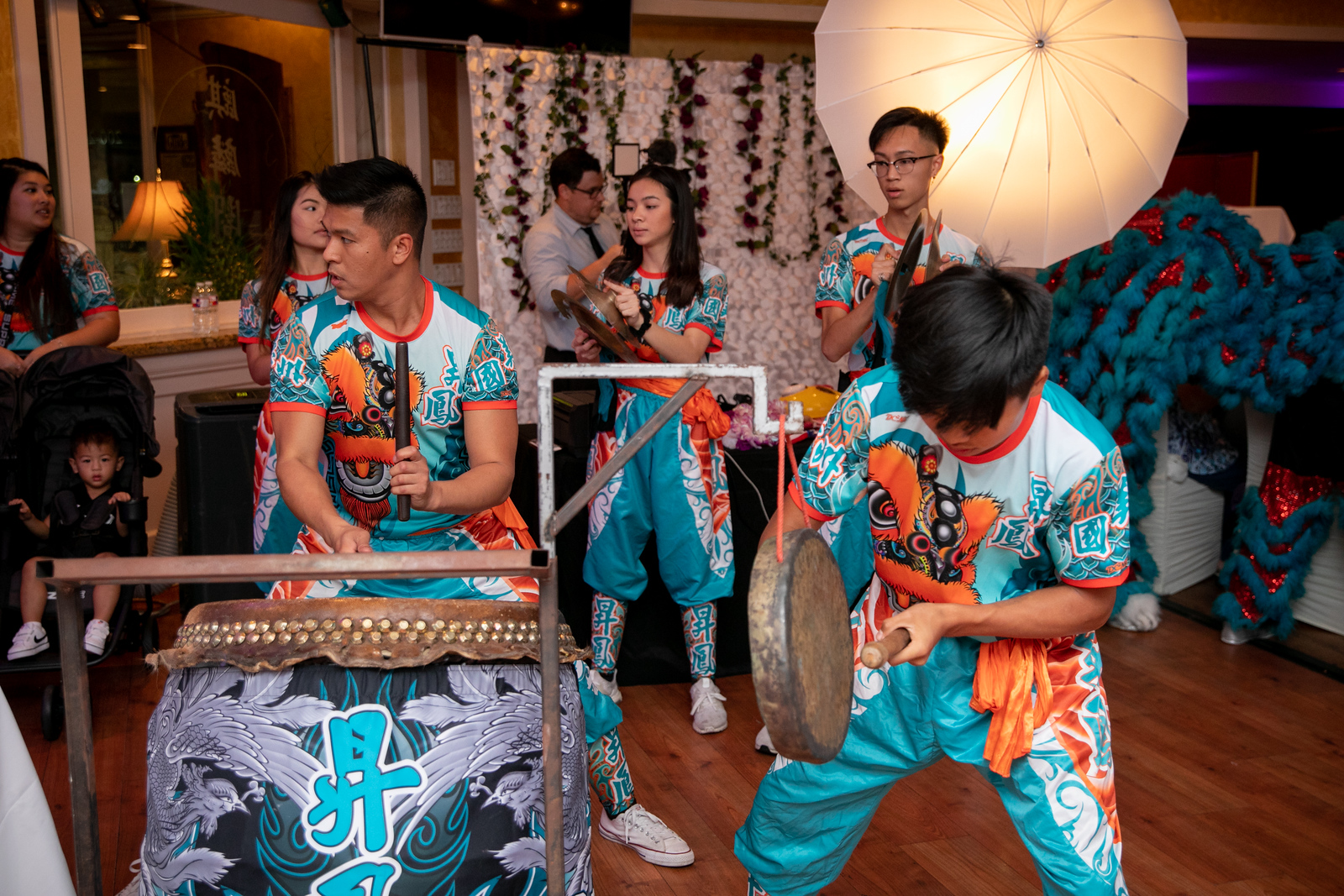 drummers at a wedding