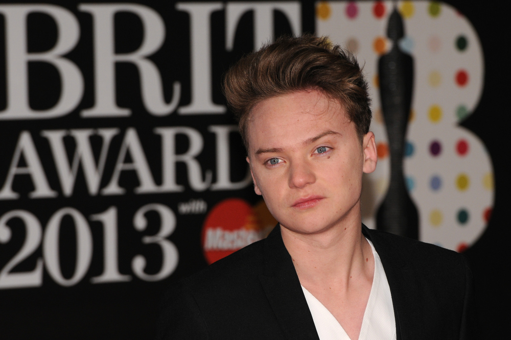 Description of . Conor Maynard attends the Brit Awards 2013 at the 02 Arena on February 20, 2013 in London, England.  (Photo by Eamonn McCormack/Getty Images)