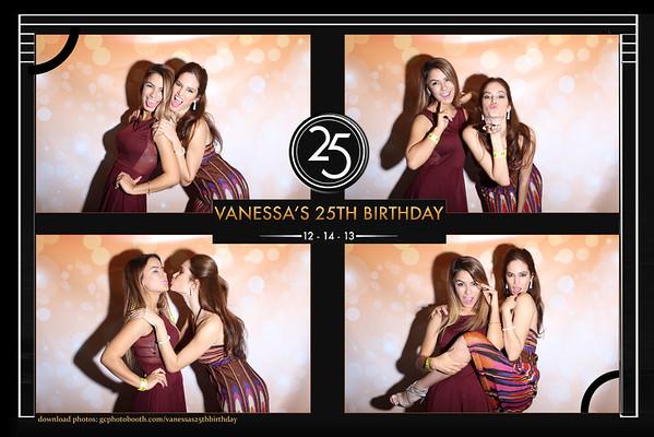 Vanessa's 25th Birthday Photo Booth Prints