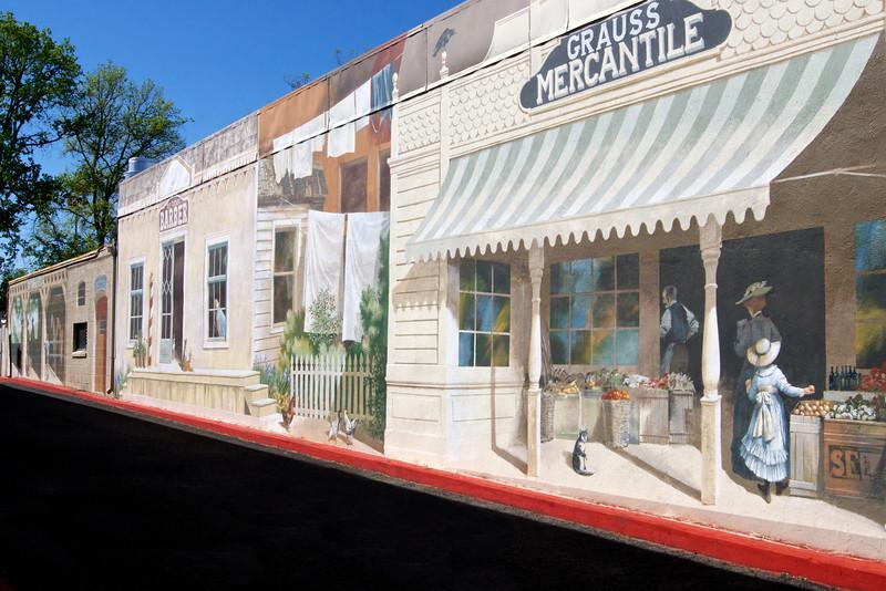 Life size wall mural in downtown Calistoga. ref: f46ef997-f4fa-4bc8-93fe-ae745e5fdd09