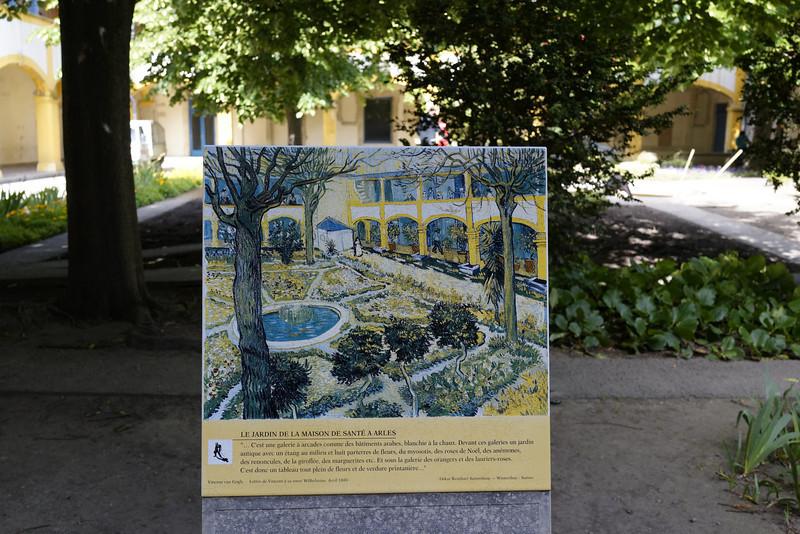 Le Jardin de la Maison De Sante A Arles by Van Gough Where Painted
