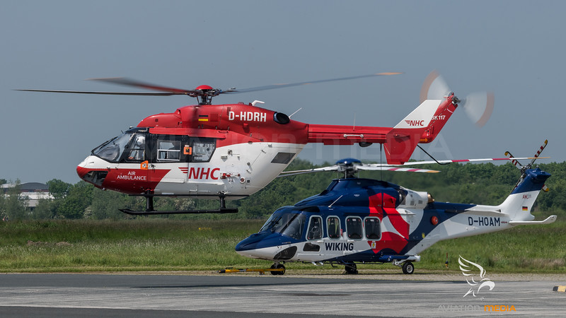 Northern Helicopter & Wiking Helicopter Service / MBB BK117B-2 & Agusta-Westland AW-139 / D-HDRH & D-HOAM