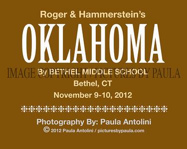Roger & Hammerstein's OKLAHOMA ~ Bethel Middle School ~ Bethel, CT ~ November 9-10, 2012