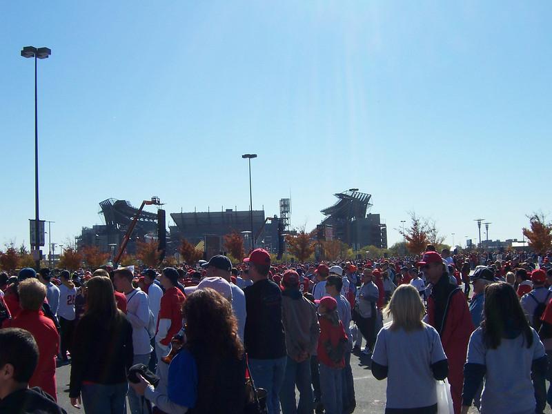 Crowds, what else?
