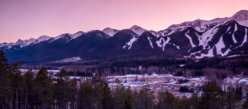 Lizard Range Sunset, Fernie, British Columbia