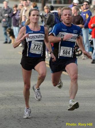 2004 Mill Bay 10K - Carla Dunn and Mike Jorgensen - 2