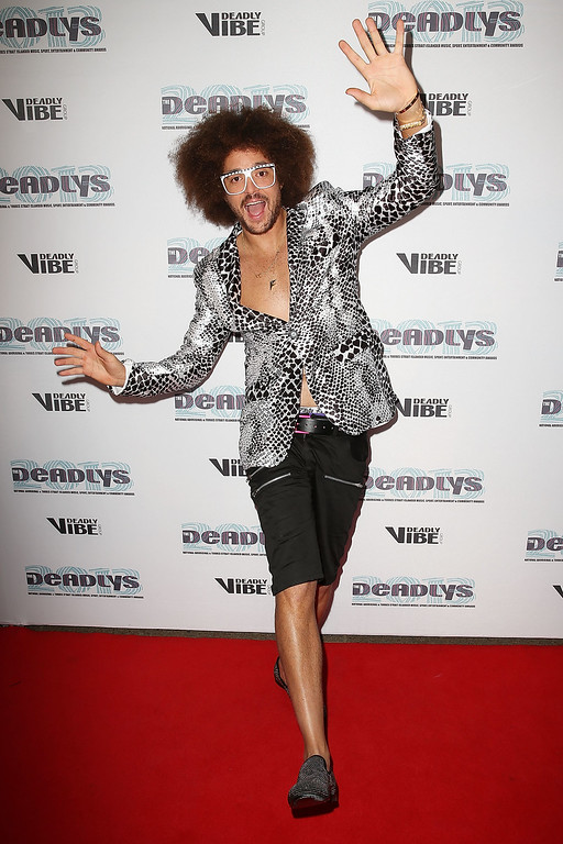 . Redfoo arrives at the 2013 Deadly Awards at the Sydney Opera House on September 10, 2013 in Sydney, Australia. The Deadly Awards are the National Aboriganal and Torres Straight Islander music, sport, entertainment and community awards.  (Photo by Brendon Thorne/Getty Images)