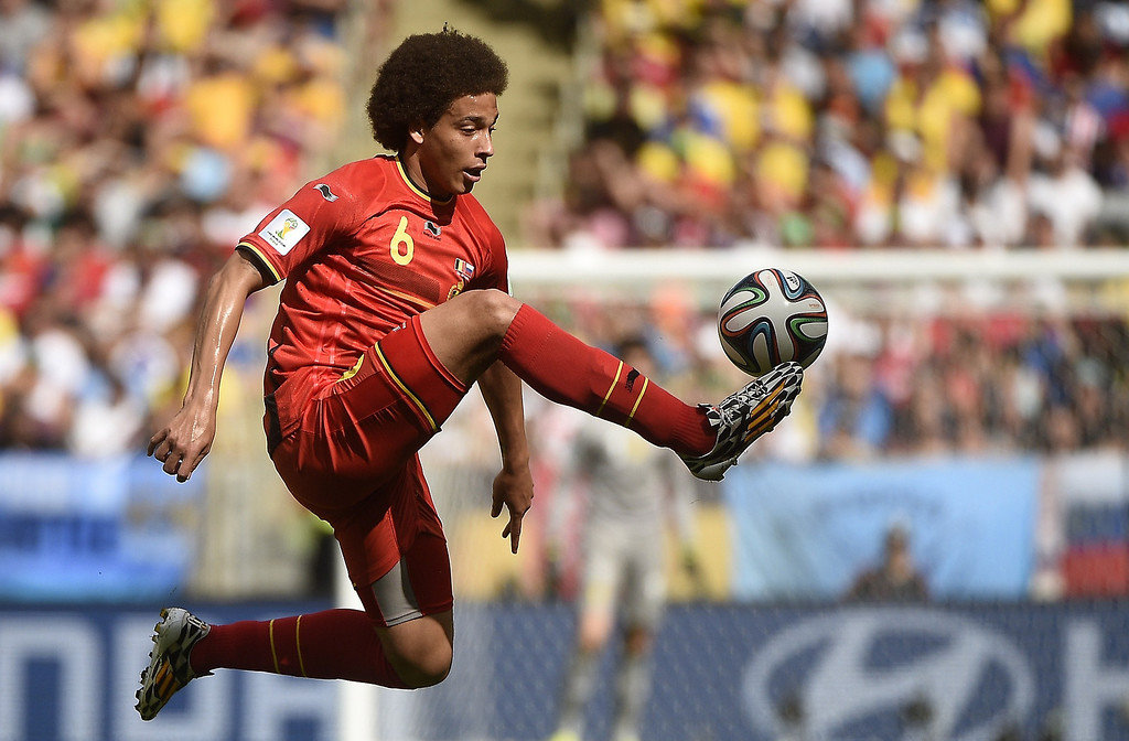 . Belgium\'s midfielder Axel Witsel controls the ball during a Group H football match between Belgium and Russia at the Maracana Stadium in Rio de Janeiro during the 2014 FIFA World Cup on June 22, 2014.   MARTIN BUREAU/AFP/Getty Images
