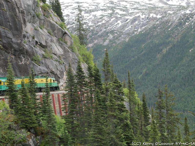 White Pass train around the bend